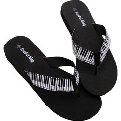 Keyboard Flip Flops - Black, Large