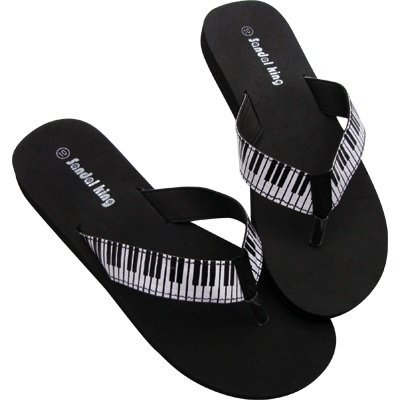 View larger image of Keyboard Flip Flops - Black, Medium