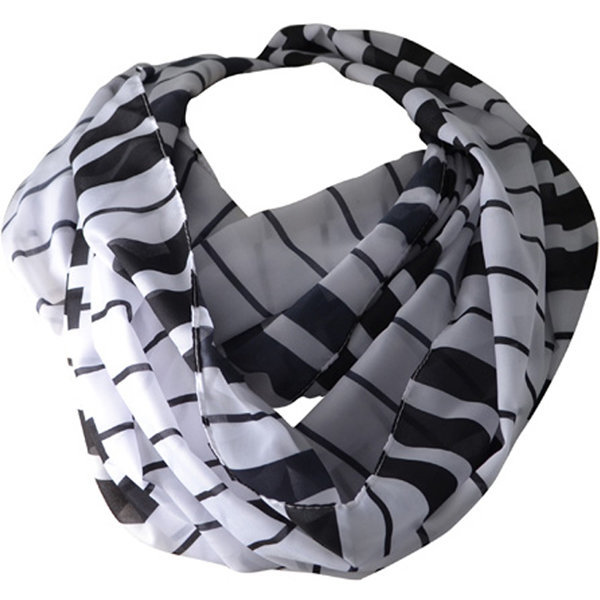 View larger image of Keyboard Infinity Scarf - Black/White, 26x72