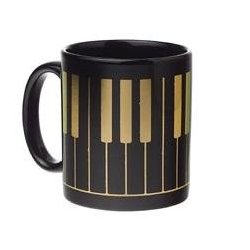 Keyboard Mug - Black/Gold