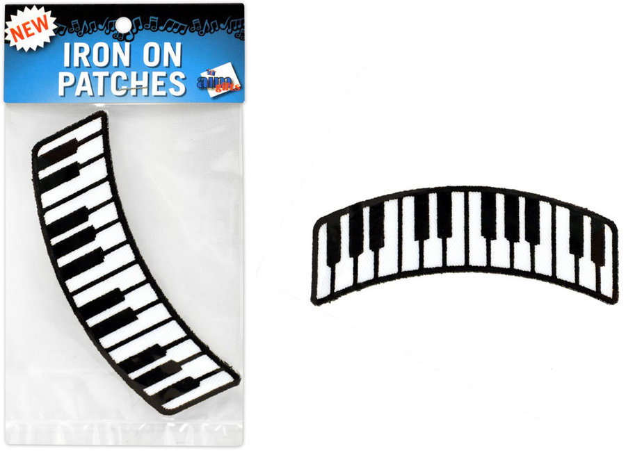 View larger image of Keyboard Patch - Curved - 4x1-1/2