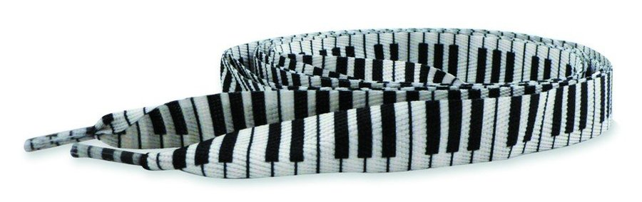 View larger image of Keyboard Shoe Laces - White/Black