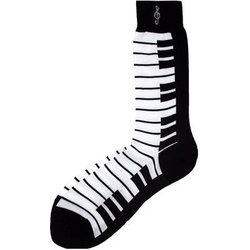 Keyboard Socks - Black/White, Men's