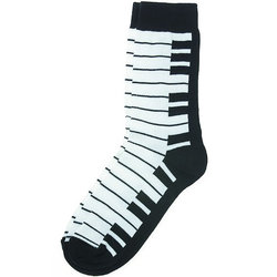 Keyboard Socks - Black/White, Women's