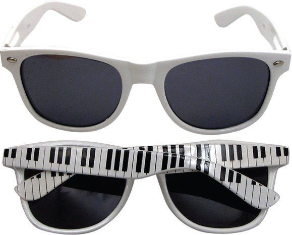View larger image of Keyboard Sunglasses - White