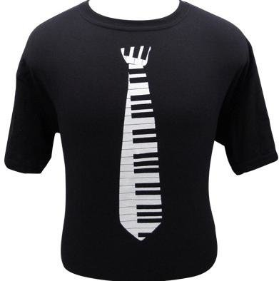 View larger image of Keyboard Tie with Notes T-Shirt - XXL
