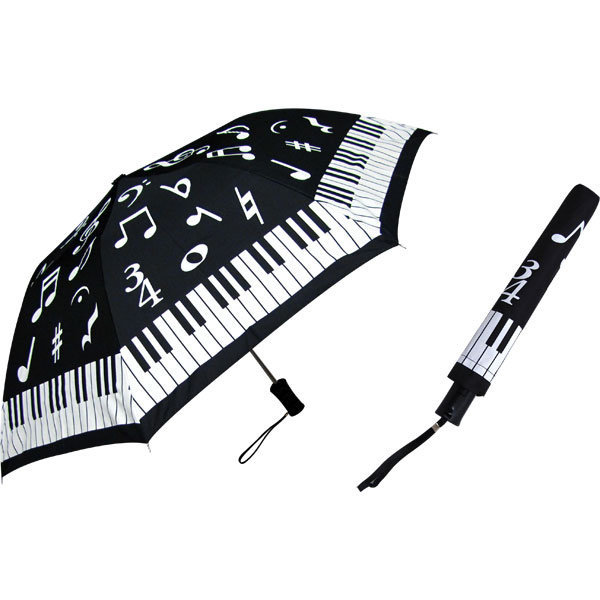 View larger image of Keyboard Umbrella with Notes - Black/White