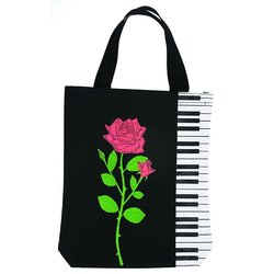 Keyboard with Rose Tote