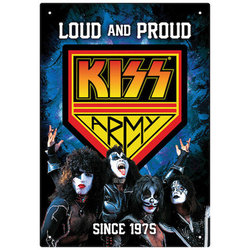 KISS Army Loud and Proud Tin Sign