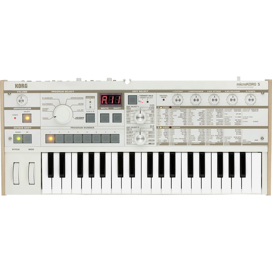 View larger image of Korg MicroKorg S Synthesizer/Vocoder