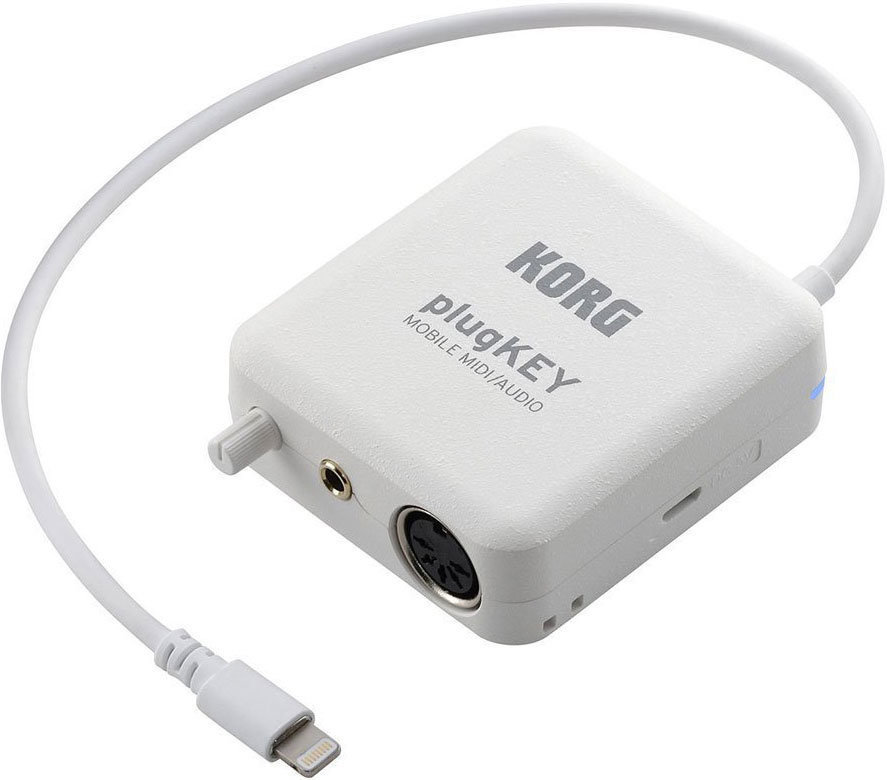View larger image of Korg plugKEY iOS Mobile MIDI and Audio Interface - White
