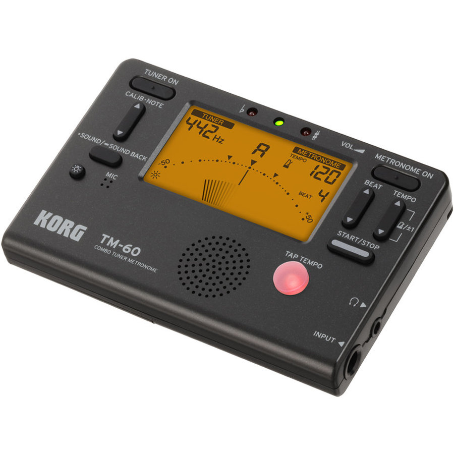 View larger image of Korg TM-60 Combo Tuner Metronome - Clip On Microphone, Black