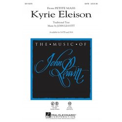 Kyrie Eleison (from Petite Mass), SATB Parts