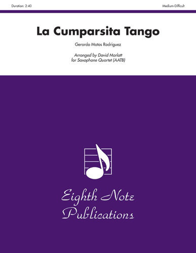 View larger image of La Cumparsita - Tango (Saxophone Quartet AATB)