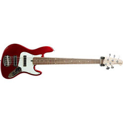 Lakland Skyline Series J-Sonic 5-String Bass Guitar - Candy Apple Red