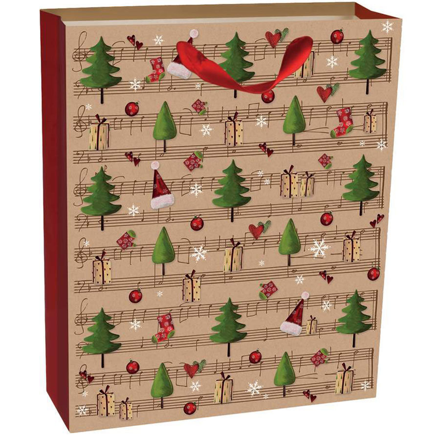 View larger image of Legami Winter Trees Gift Bag - Large