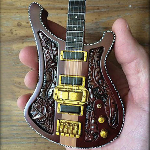 View larger image of Lemmy Signature Carved Mini Bass Guitar Replica