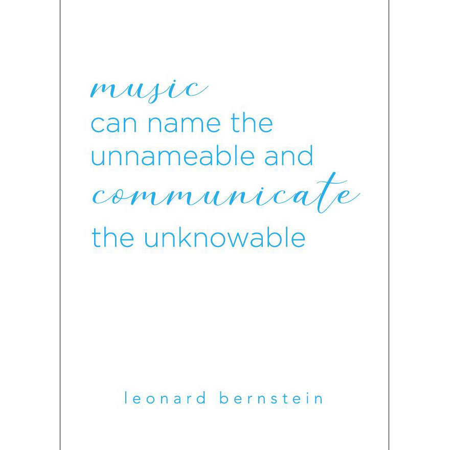View larger image of Leonard Bernstein Quote Greeting Card