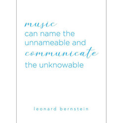 Leonard Bernstein Quote Greeting Card