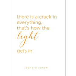 Leonard Cohen Quote Greeting Card