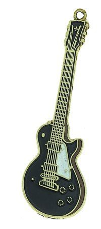View larger image of Les Paul Custom Guitar Keychain - Black