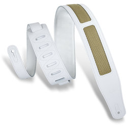 Levy's Amped Tweed Guitar Strap - White, 2 1/2