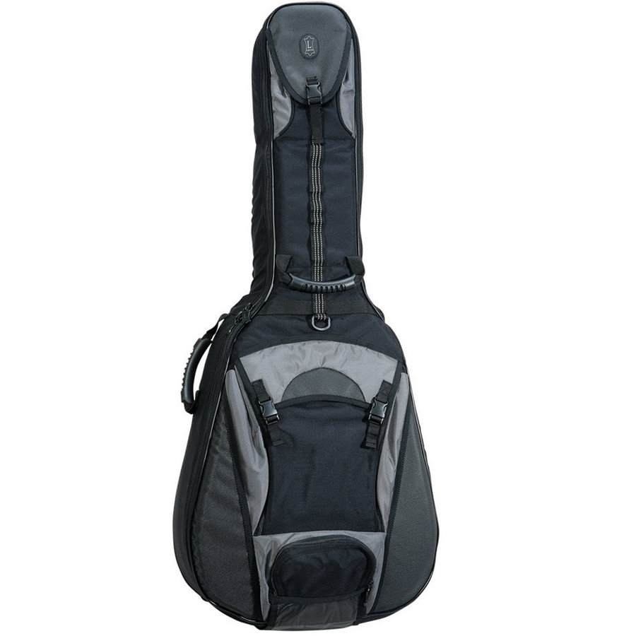 View larger image of Levy's CPS20 Acoustic Guitar Gig Bag - Black/Grey