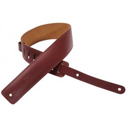 Levy's DM1 2 1/2 Leather Guitar Strap with Decorative Double Stitch - Burgundy