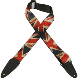 Levy's Leather MDP-UK Polyester Guitar Strap - Flag Design, 2