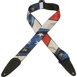 Levy's Leather MDP-US Polyester Guitar Strap - Flag Design, 2