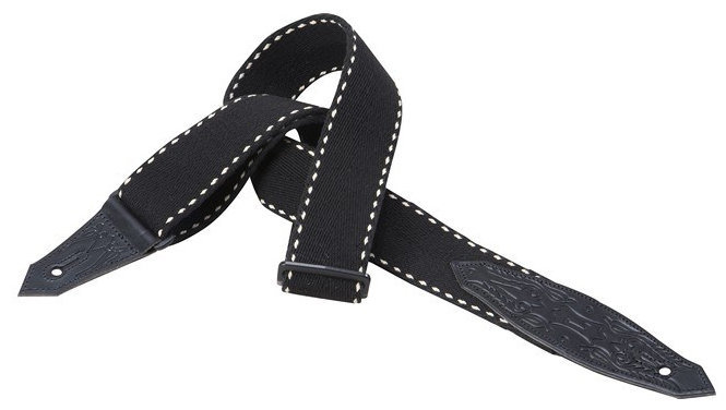 View larger image of Levy's Leather MSSC80 Cotton Guitar Strap - Black, 2