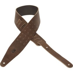 Levy's Leather MV317ONX Veg Tan Leather Guitar Strap - Brown, 2.5
