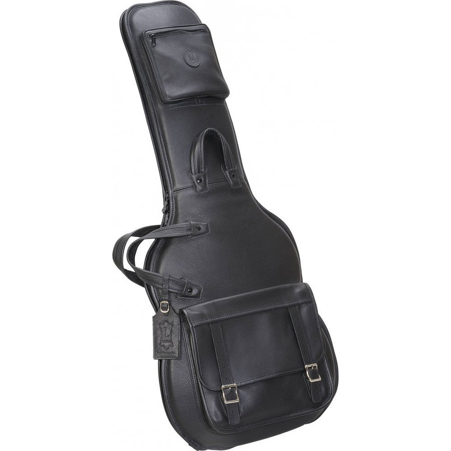View larger image of Levy's LM18 Leather Electric Guitar Gig Bag - Black