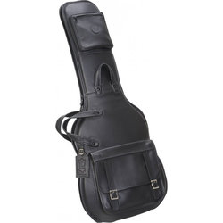 Levy's LM18 Leather Electric Guitar Gig Bag - Black