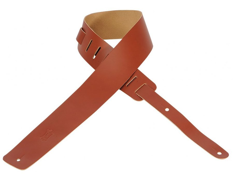 View larger image of Levy's M1 2 1/2 Leather Guitar Strap - Walnut