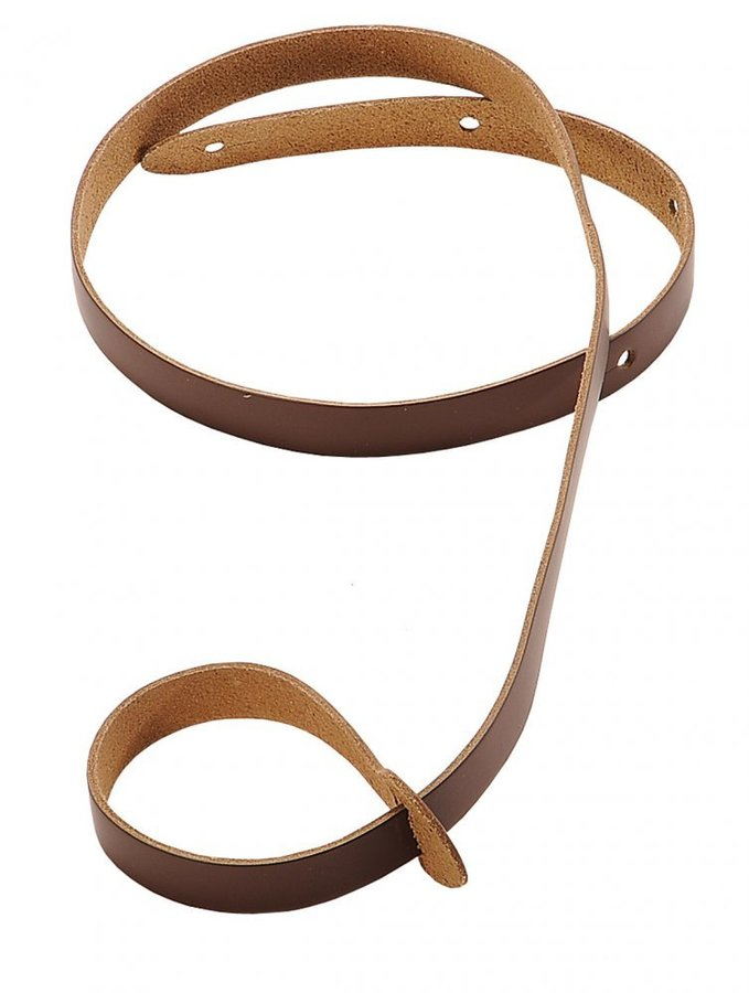 View larger image of Levy's M19 3/4 Leather Mandolin Strap - Brown