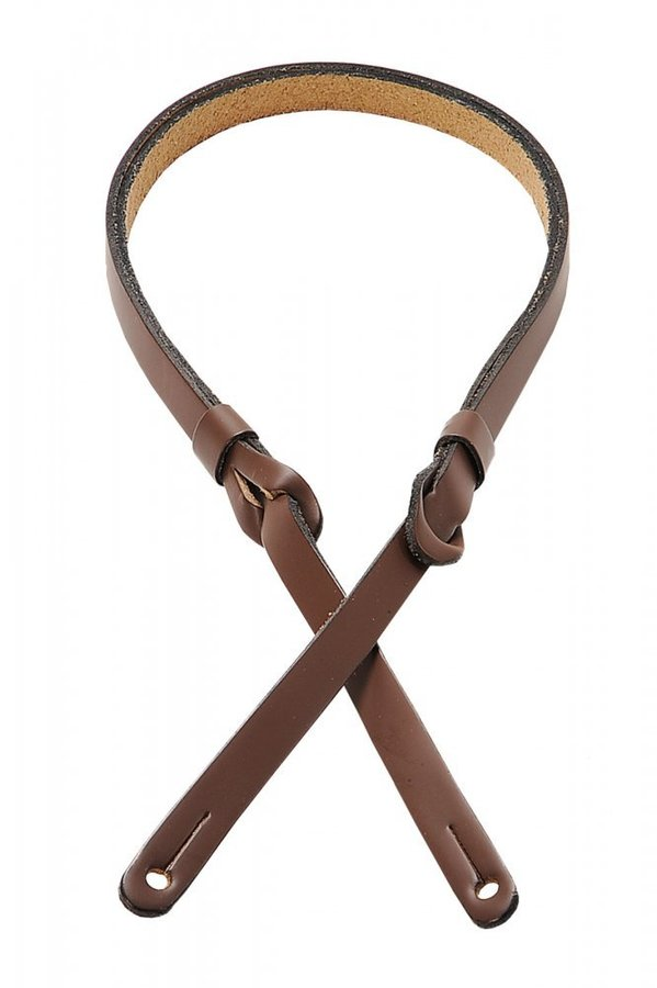 View larger image of Levy's M19PR 3/8 Carving Leather Mandolin Strap with Feed-Through Adjustment - Brown