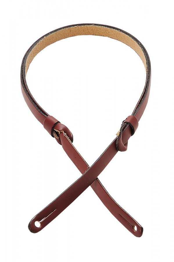 View larger image of Levy's M19PR 3/8 Carving Leather Mandolin Strap with Feed-Through Adjustment - Burgundy