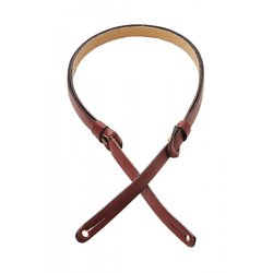 Levy's M19PR 3/8 Carving Leather Mandolin Strap with Feed-Through Adjustment - Burgundy
