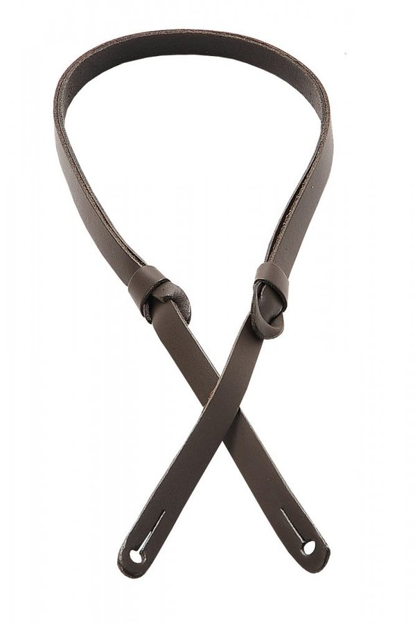 View larger image of Levy's M19PR 3/8 Carving Leather Mandolin Strap with Feed-Through Adjustment - Dark Brown