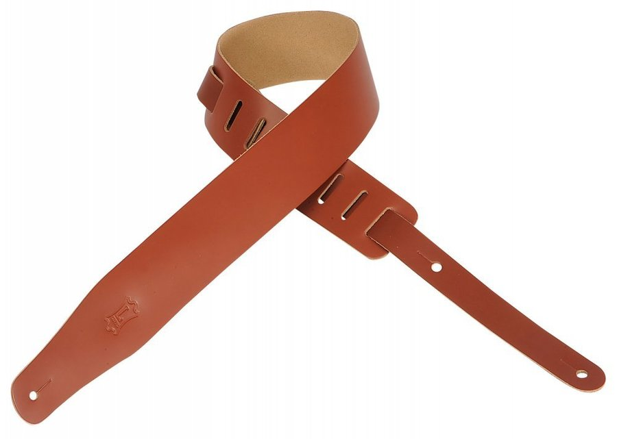 View larger image of Levy's M26 2 1/2 Leather Guitar Strap - Walnut