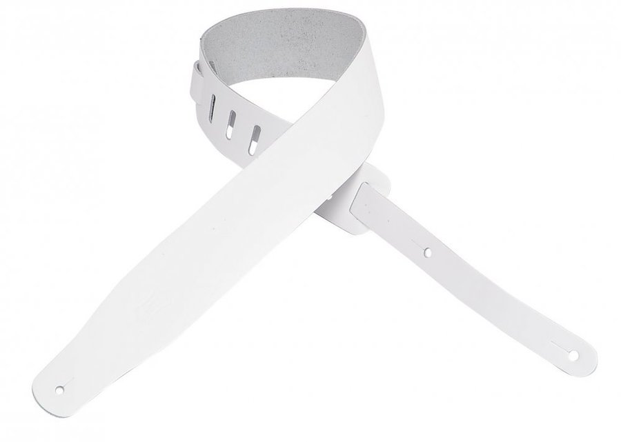 View larger image of Levy's M26 2 1/2 Leather Guitar Strap - White