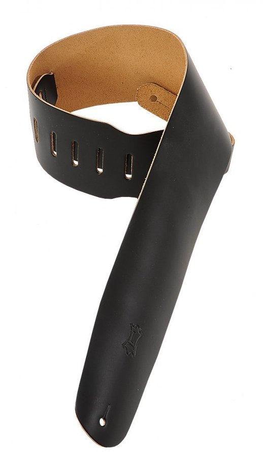 View larger image of Levy's M4 3 1/2 Leather Bass Strap - Black
