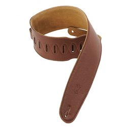 Levy's M4GF 3 1/2 Garment Leather Bass Strap with Foam Padding - Brown