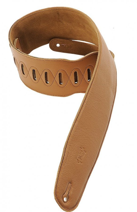 View larger image of Levy's M4GF 3 1/2 Garment Leather Bass Strap with Foam Padding - Tan