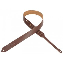Levy's M70 1 1/2 Leather Guitar Strap - Brown