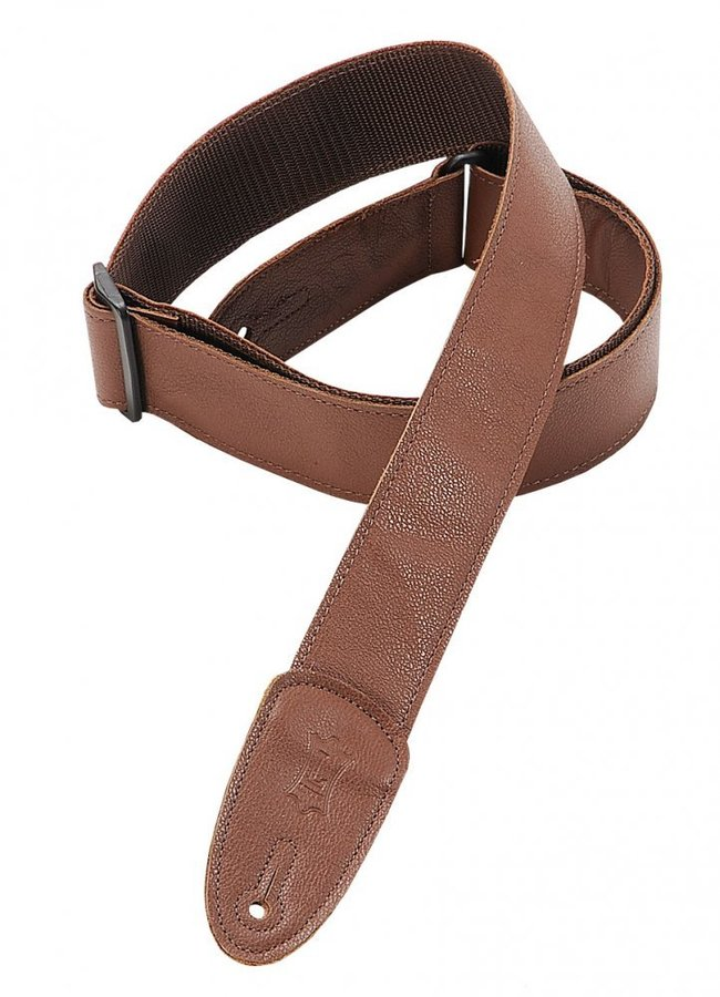 View larger image of Levy's M7GP 2 Garment Leather Guitar Strap - Brown