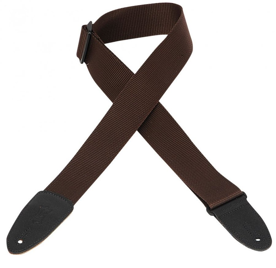View larger image of Levy's M8 2 Soft-Hand Polypropylene Guitar Strap - Brown