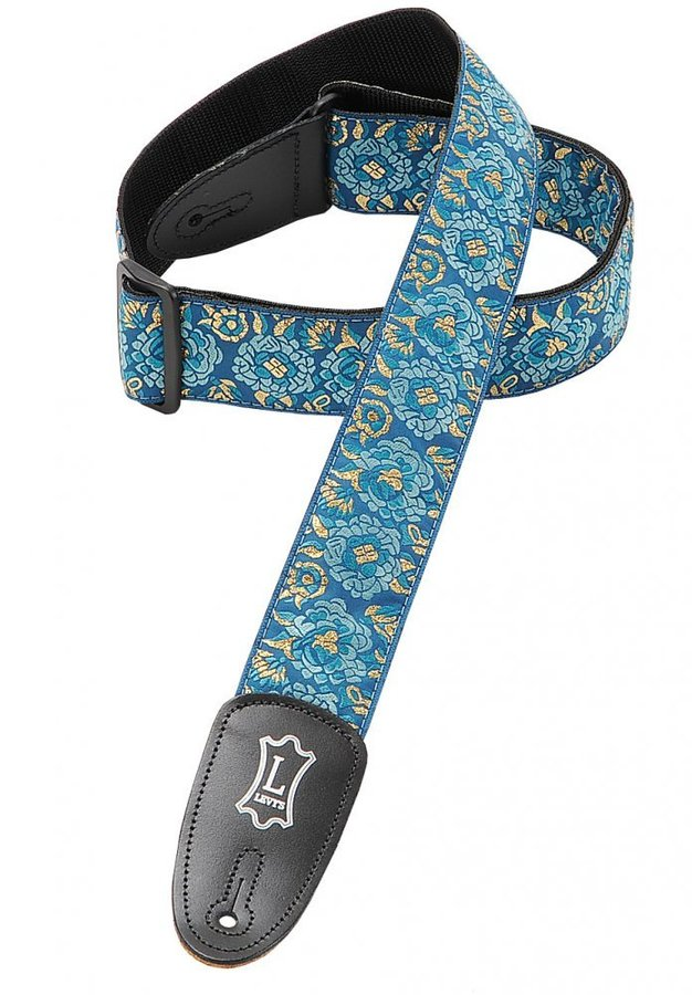 View larger image of Levy's M8AS 2 Asian Jacquard Weave Guitar Strap - Blue