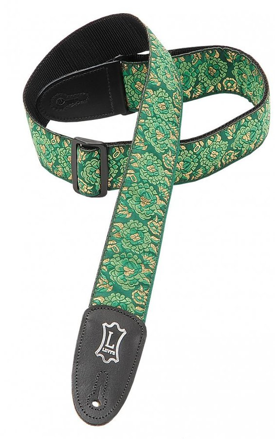 View larger image of Levy's M8AS 2 Asian Jacquard Weave Guitar Strap - Green